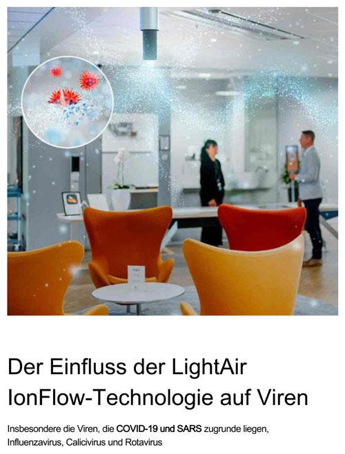 Der Einfluss der LightAir IonFlow-Technologie auf Viren